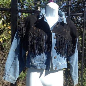COPY - JOU JOU n.o.c n.o.c black leather fringe  …